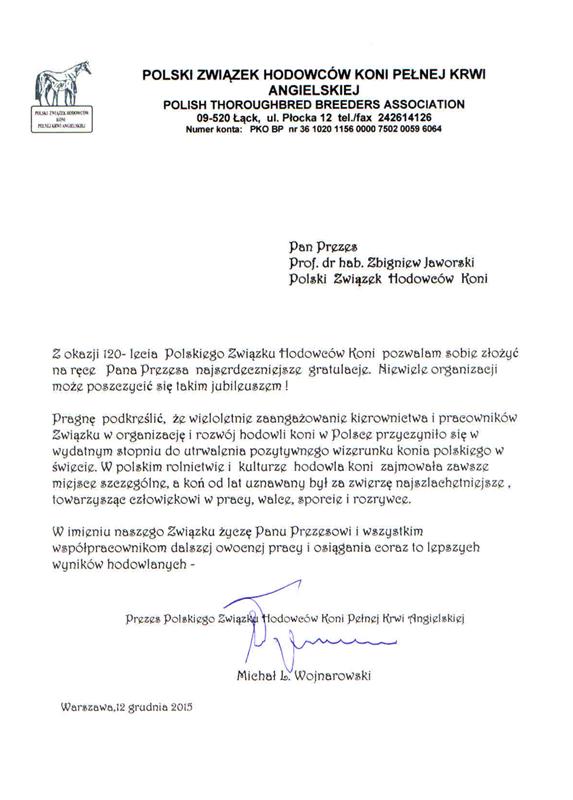 List gratulacyjny PZHKxx