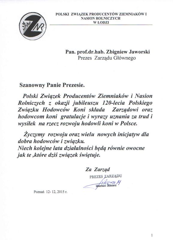 List gratulacyjny ZNR