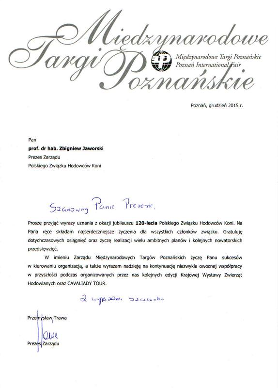 List gratulacyjny MTP