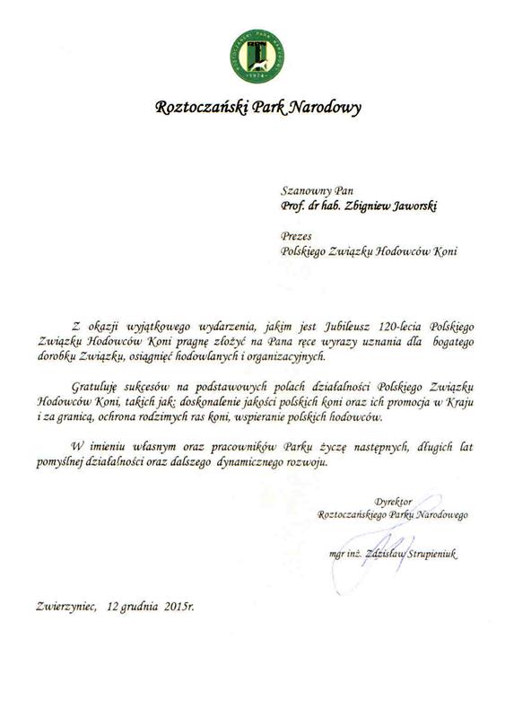 List gratulacyjny RPN