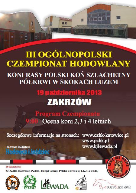 III Ogólnopolski Czempionat Hodowlany koni rasy SP wskokach luzem