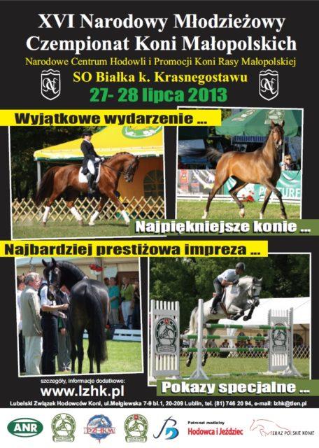 16th National Youth Championship of Polish Anglo-Arab (Małopolska) Horses
