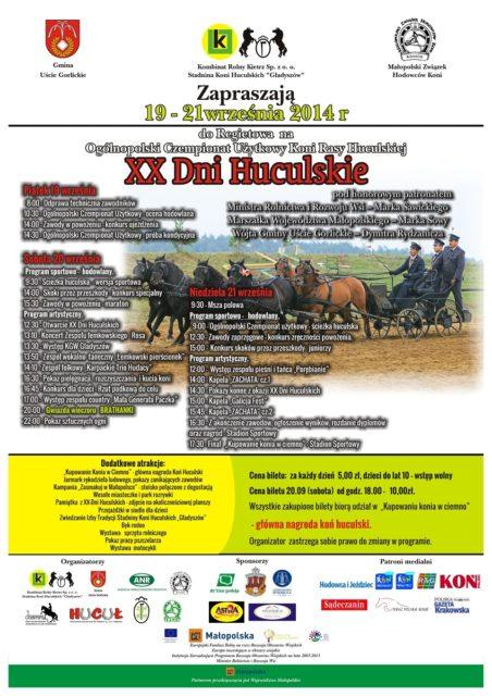 XX Dni Huculskie 2014 - plakat