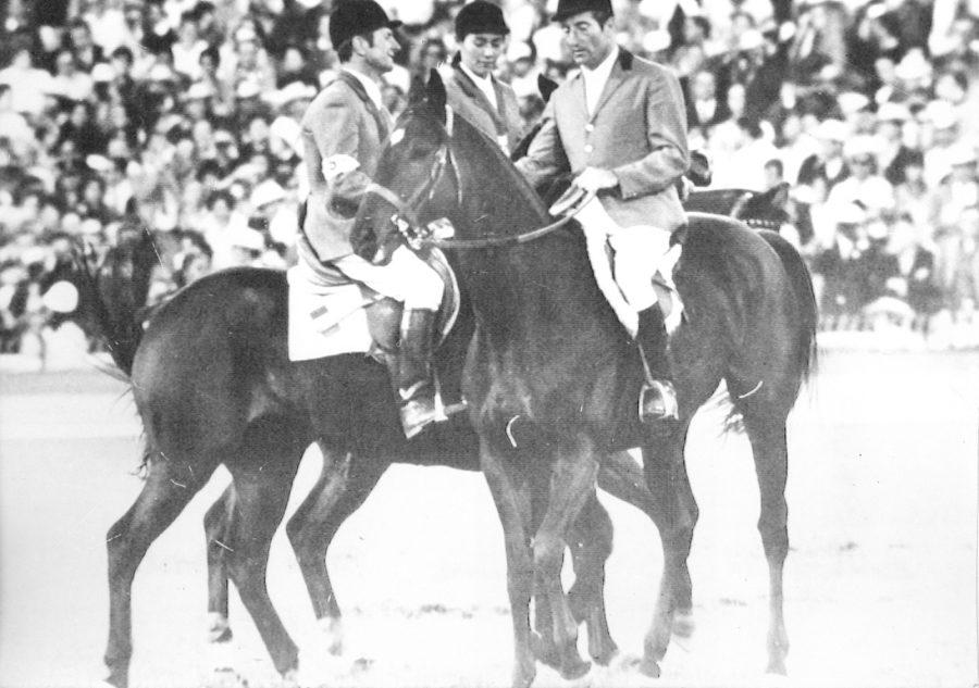 Od prawej Marcel Rozier, Jeanne Lefevre iPierre D'Oriola