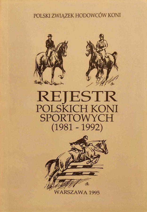 """Książka """"Rejestr polskich koni sportowych"""""""